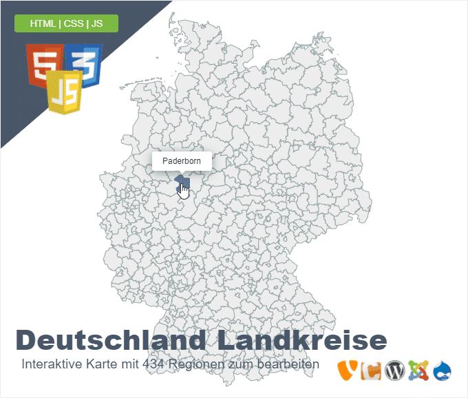 Deutschlandkarte Landkreise