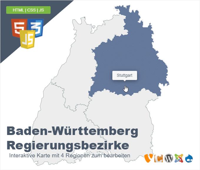 Baden-Württemberg Regierungsbezirke