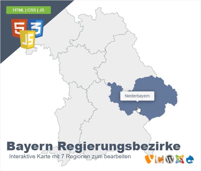 Bayern Regierungsbezirke