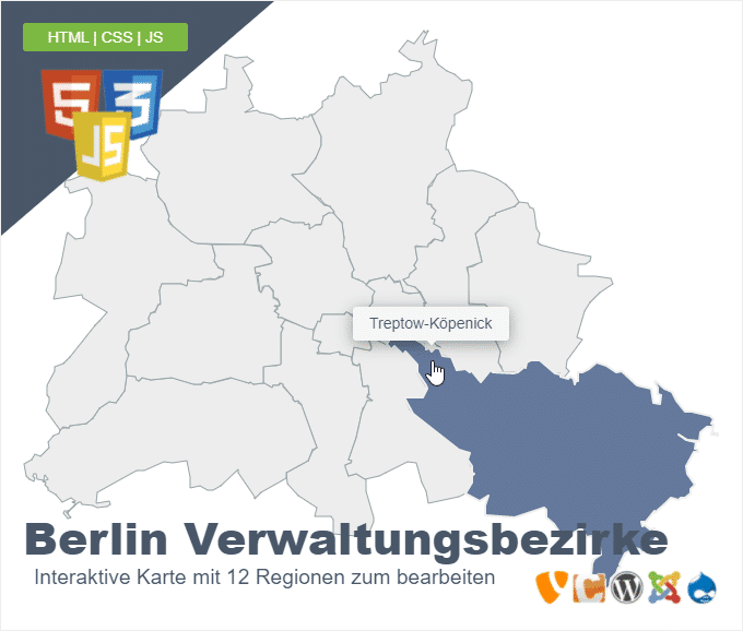 Berlin Verwaltungsbezirke