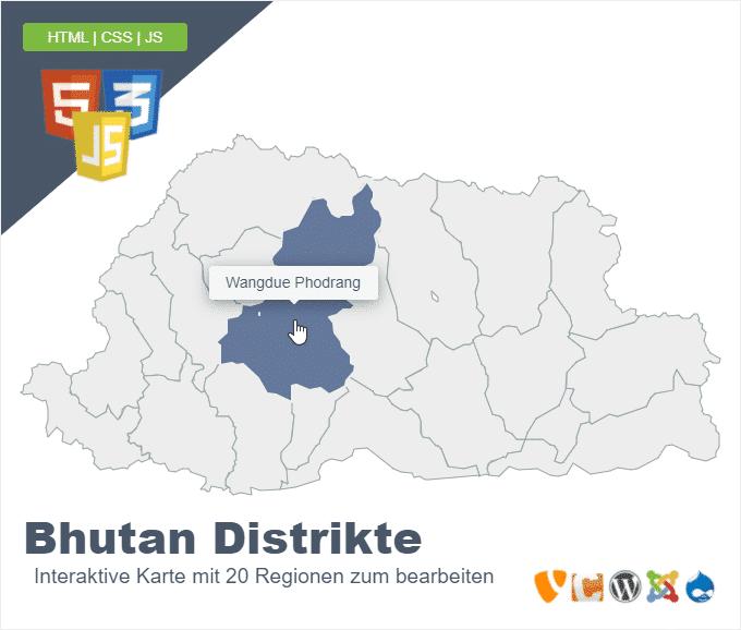 Bhutan Distrikte
