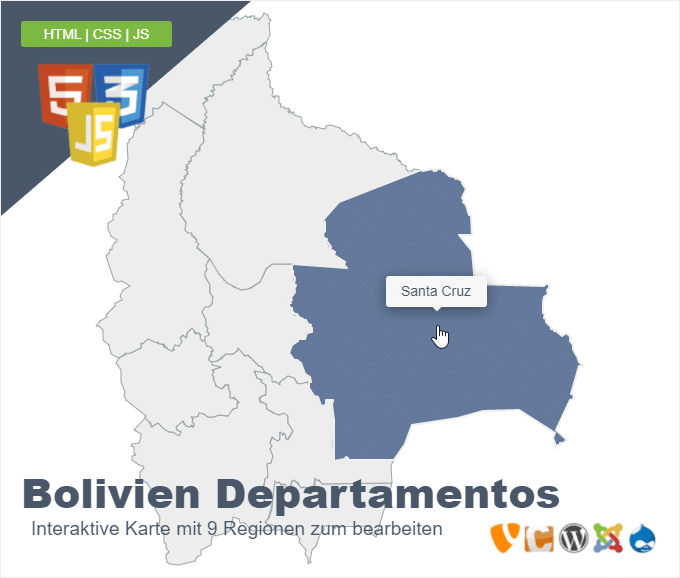 Bolivien Departamentos