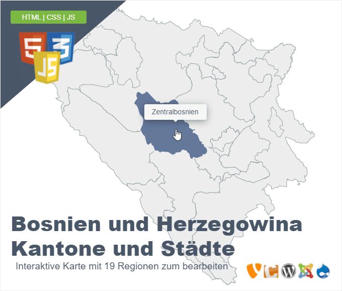 Bosnien und Herzegowina Kantone