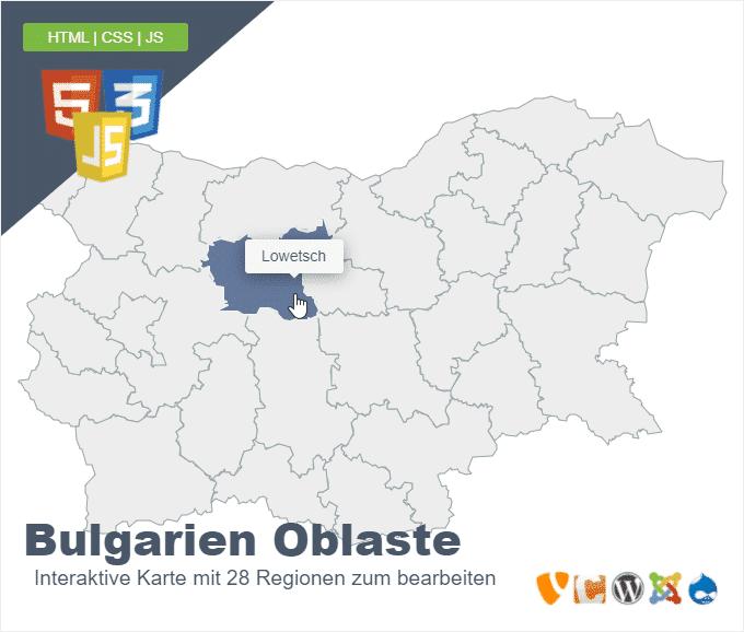 Bulgarien Oblaste
