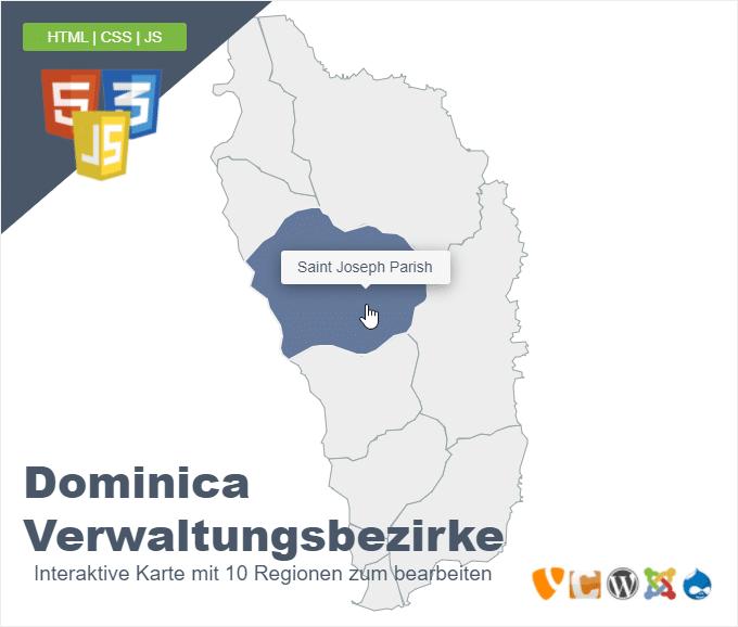 Dominica Verwaltungsbezirke