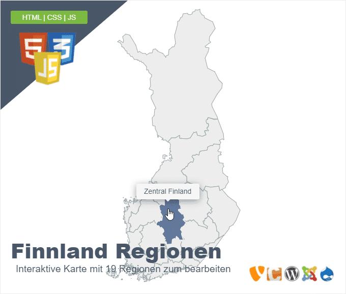 Finnland Regionen