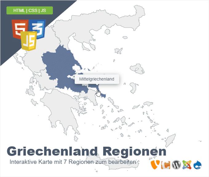 Griechenland Regionen
