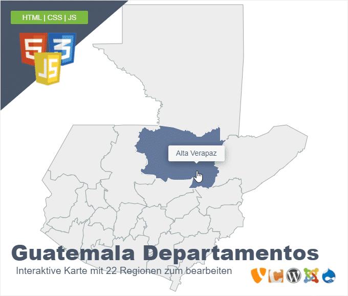 Guatemala Departamentos