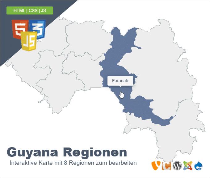 Guyana Regionen
