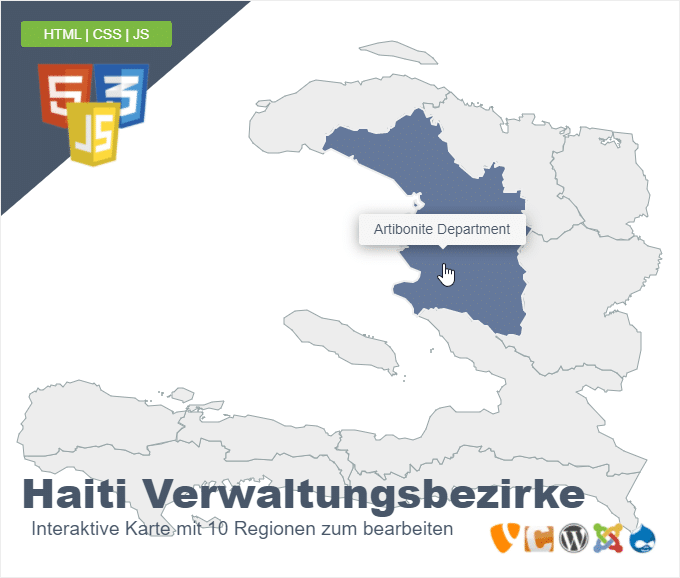 Haiti Verwaltungsbezirke