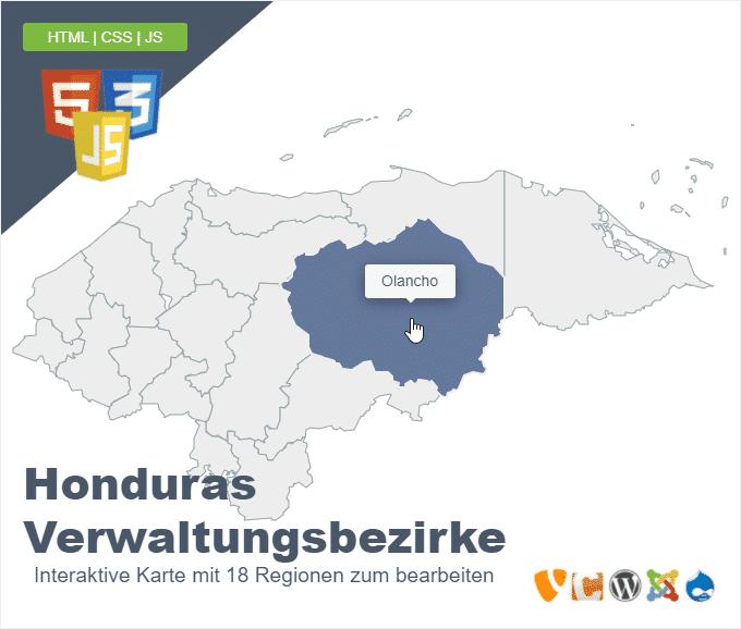 Honduras Verwaltungsbezirke