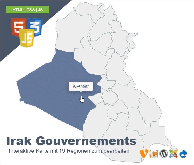 Irak Gouvernements