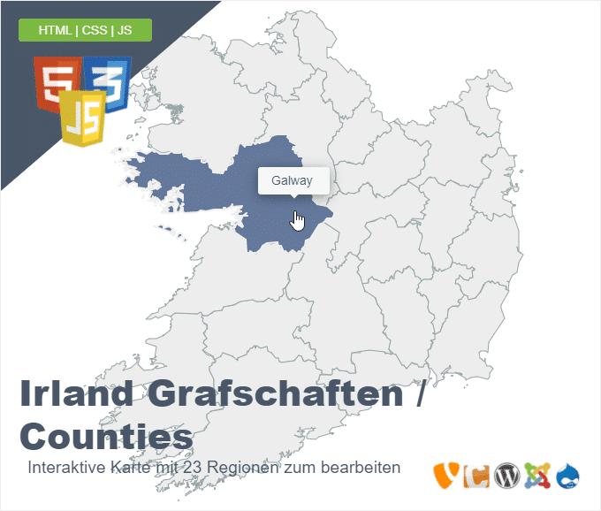 Irland Grafschaften Counties