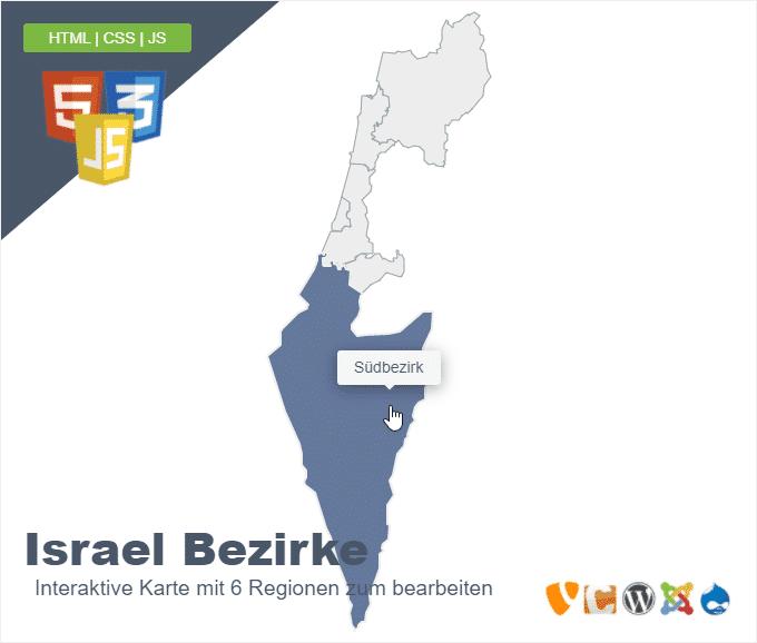 Israel Bezirke