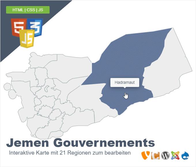 Jemen Gouvernements