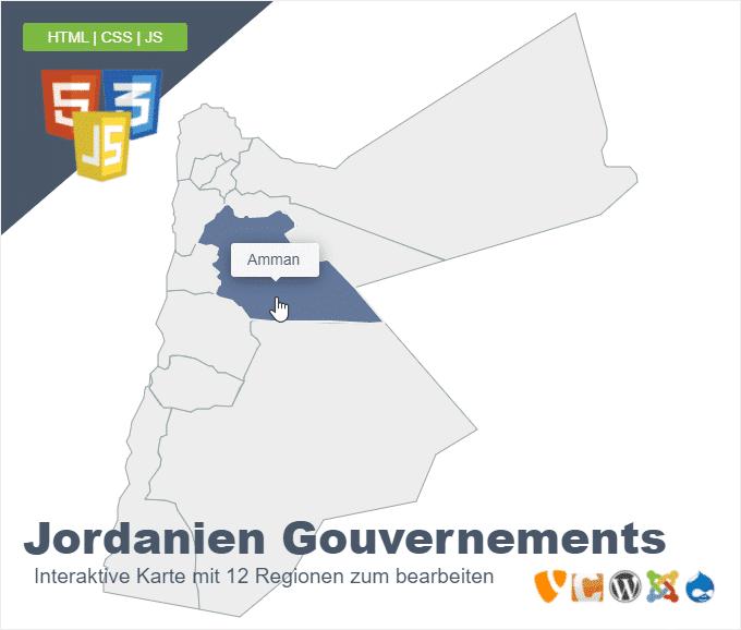 Jordanien Gouvernements