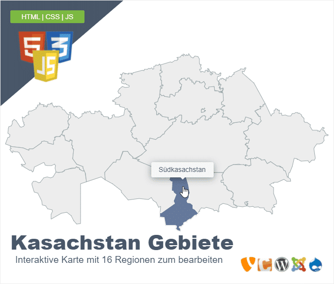 Kasachstan Gebiete
