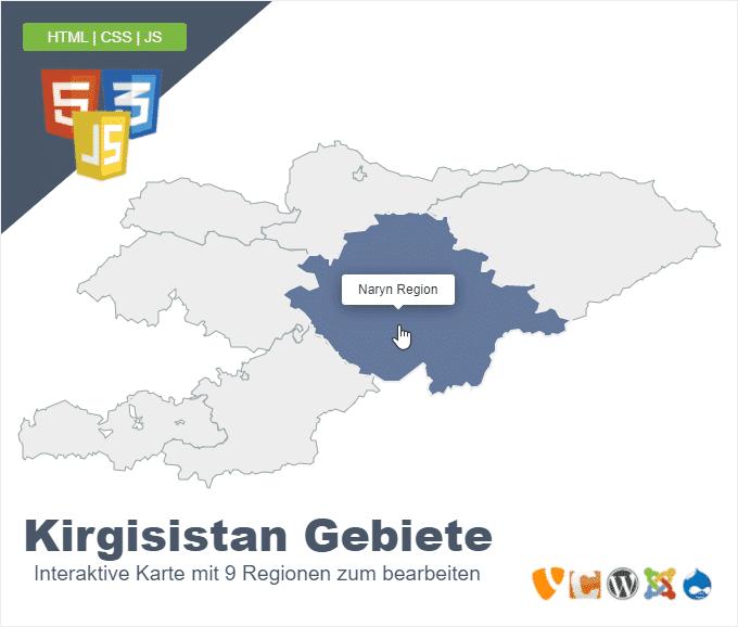 Kirgisistan Gebiete