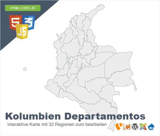 Kolumbien Departamentos