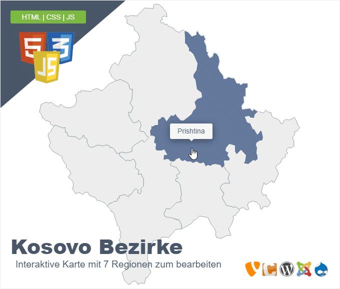 Kosovo Bezirke