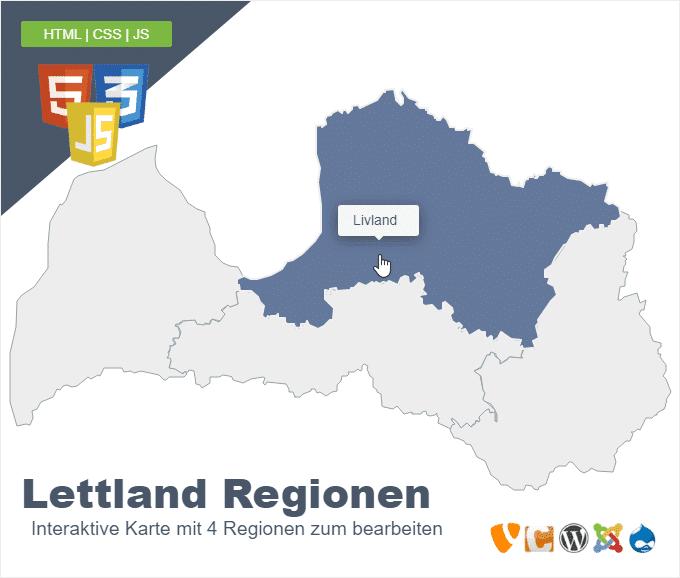 Lettland Regionen
