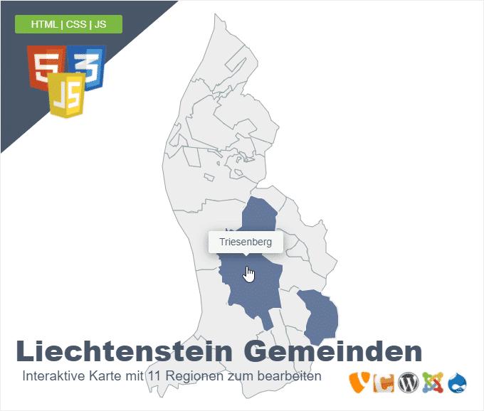 Liechtenstein Gemeinden