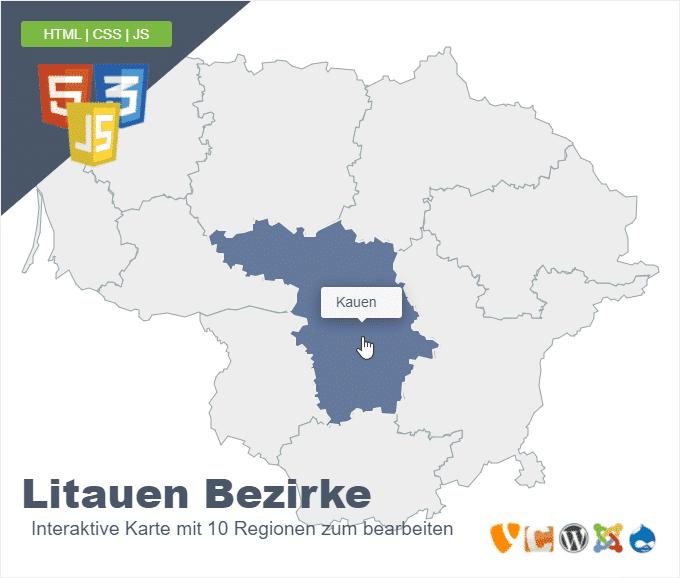 Litauen Bezirke
