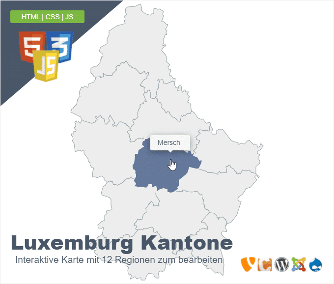 Luxemburg Kantone