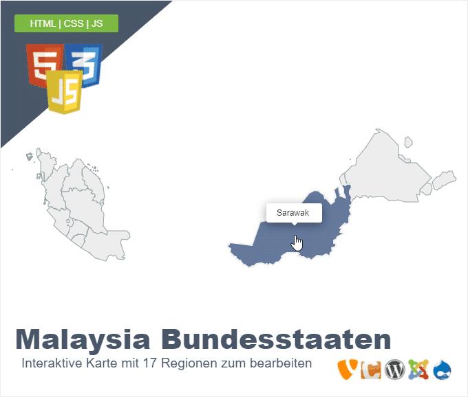 Malaysia Bundesstaaten