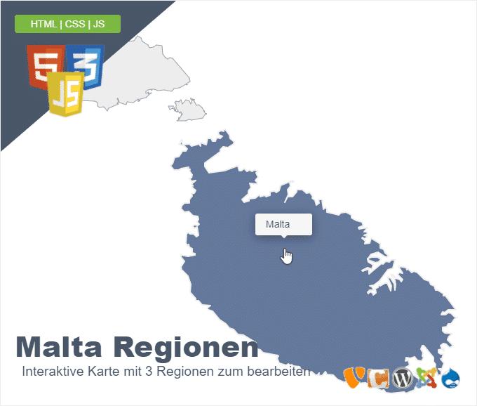 Malta Regionen