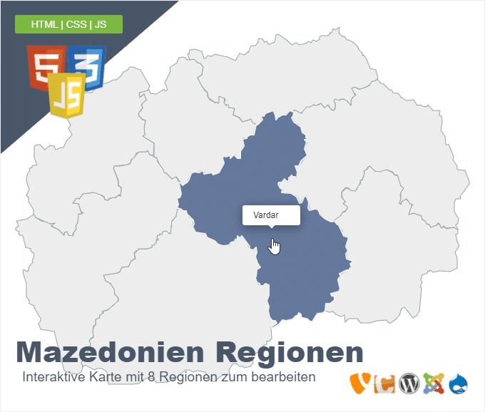 Mazedonien Regionen
