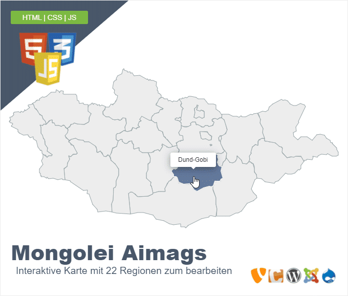 Mongolei Aimags