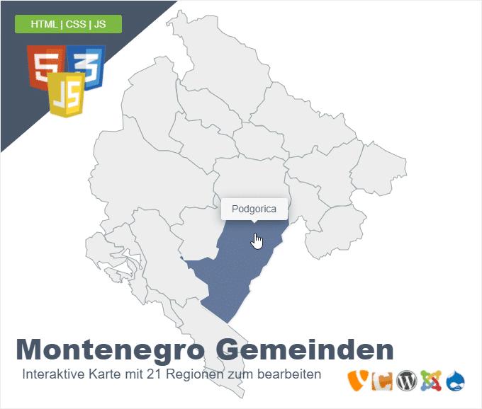 Montenegro Gemeinden