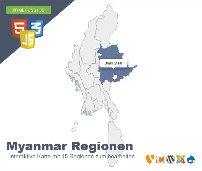 Myanmar Regionen