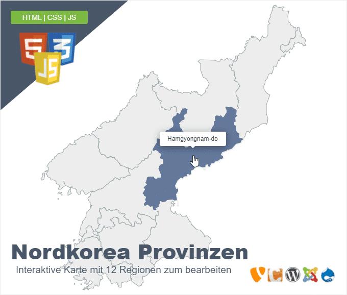 Nordkorea Provinzen