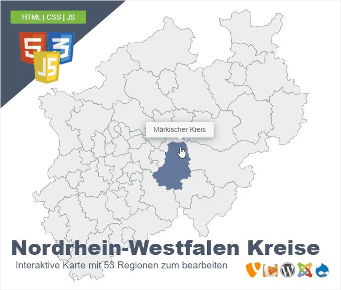 Nordrhein-Westfalen Kreise