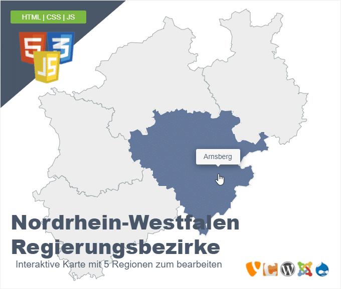 Nordrhein-Westfalen Regierungsbezirke