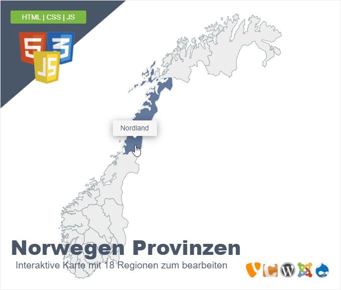 Norwegen Provinzen