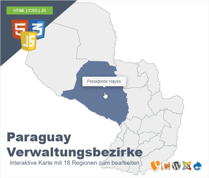 Paraguay Verwaltungsbezirke