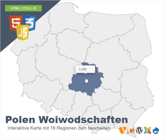 Polen Woiwodschaften