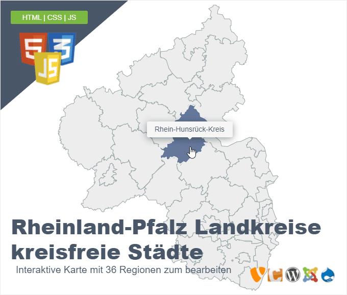 Rheinland-Pfalz Landkreise kreisfreie Städte