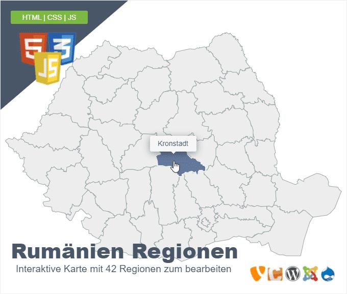 Rumänien Regionen