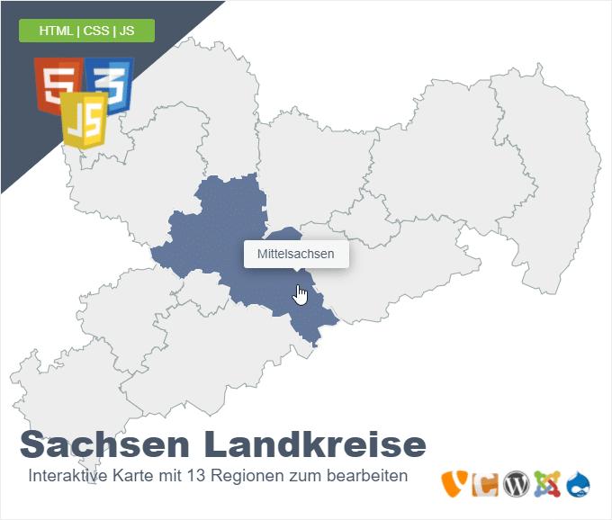 Sachsen Landkreise