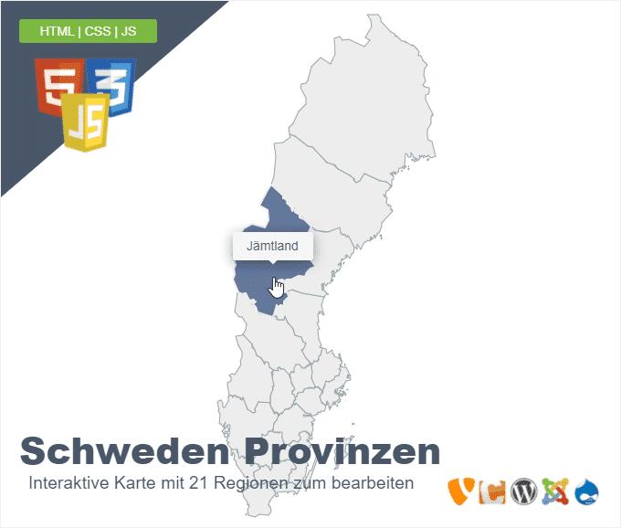 Schweden Provinzen