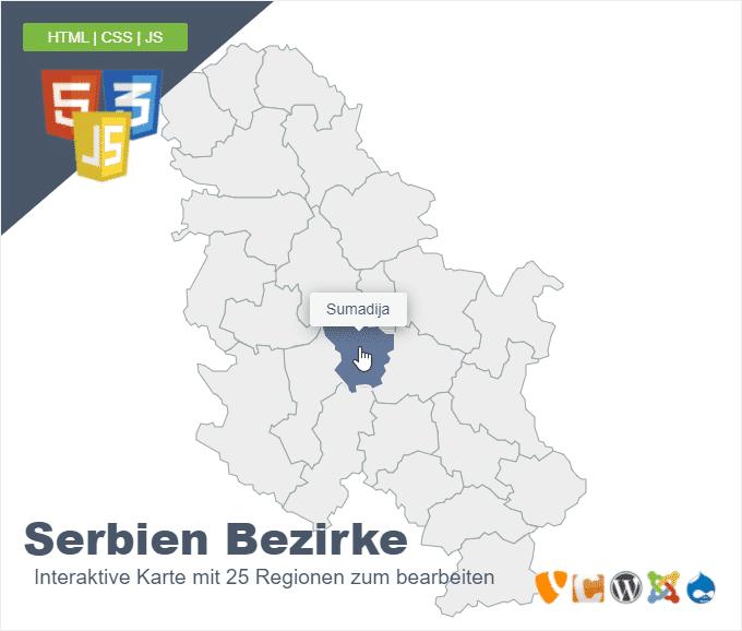 Serbien Bezirke