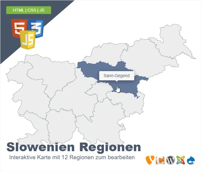 Slowenien Regionen