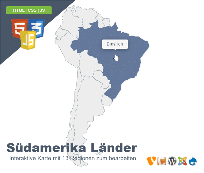 Südamerika Länder