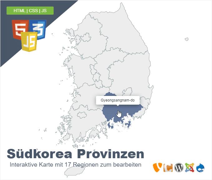 Südkorea Provinzen