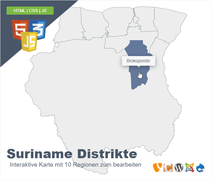 Suriname Distrikte