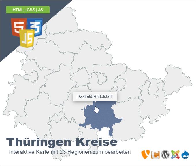 Thüringen Kreise